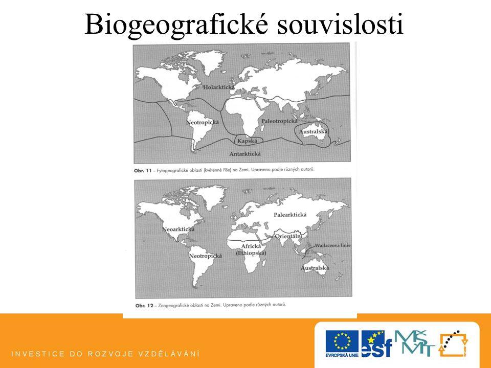 Biogeografické souvislosti