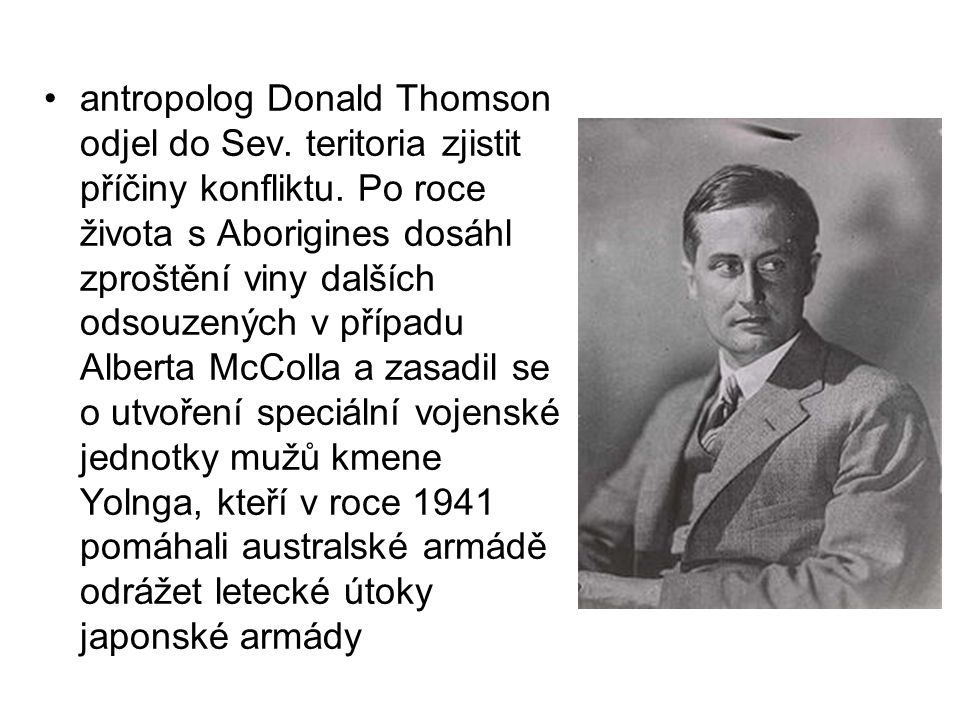 antropolog Donald Thomson odjel do Sev