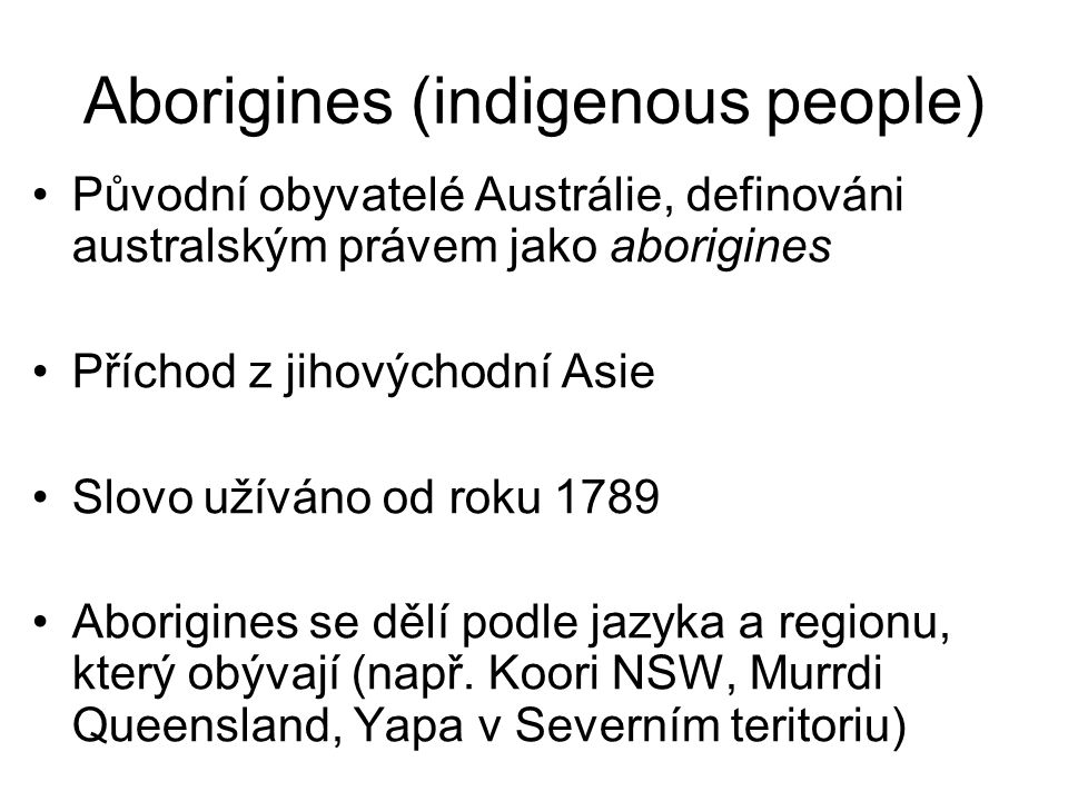Aborigines (indigenous people)