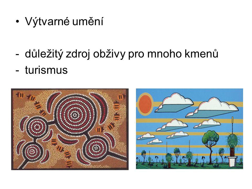 Výtvarné umění důležitý zdroj obživy pro mnoho kmenů turismus