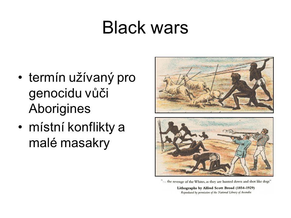 Black wars termín užívaný pro genocidu vůči Aborigines