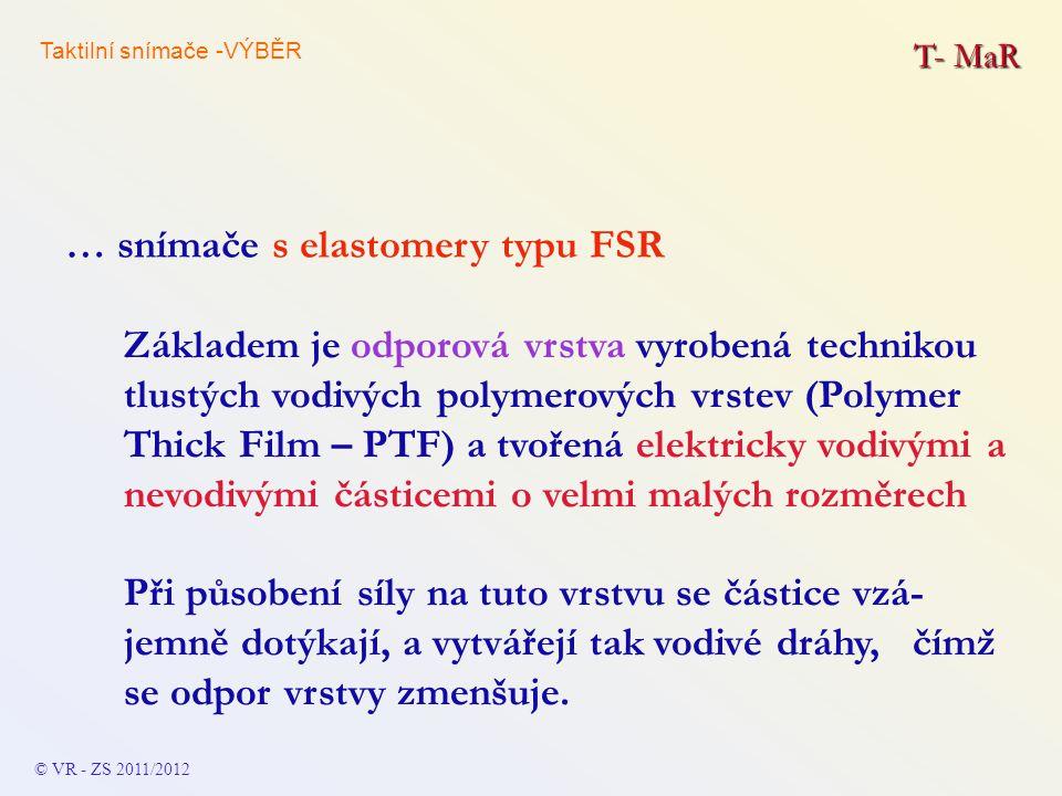 … snímače s elastomery typu FSR