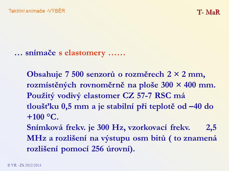 … snímače s elastomery ……