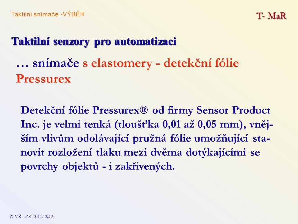 … snímače s elastomery - detekční fólie Pressurex