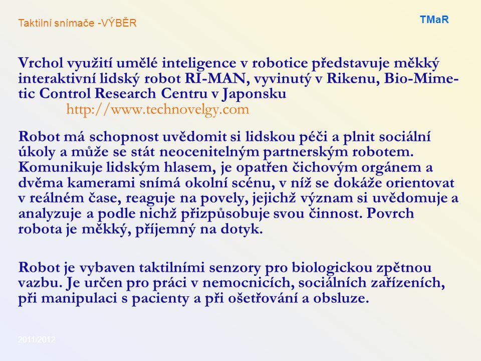 TMaR Taktilní snímače -VÝBĚR.