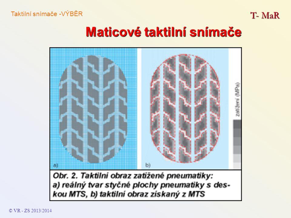 Maticové taktilní snímače