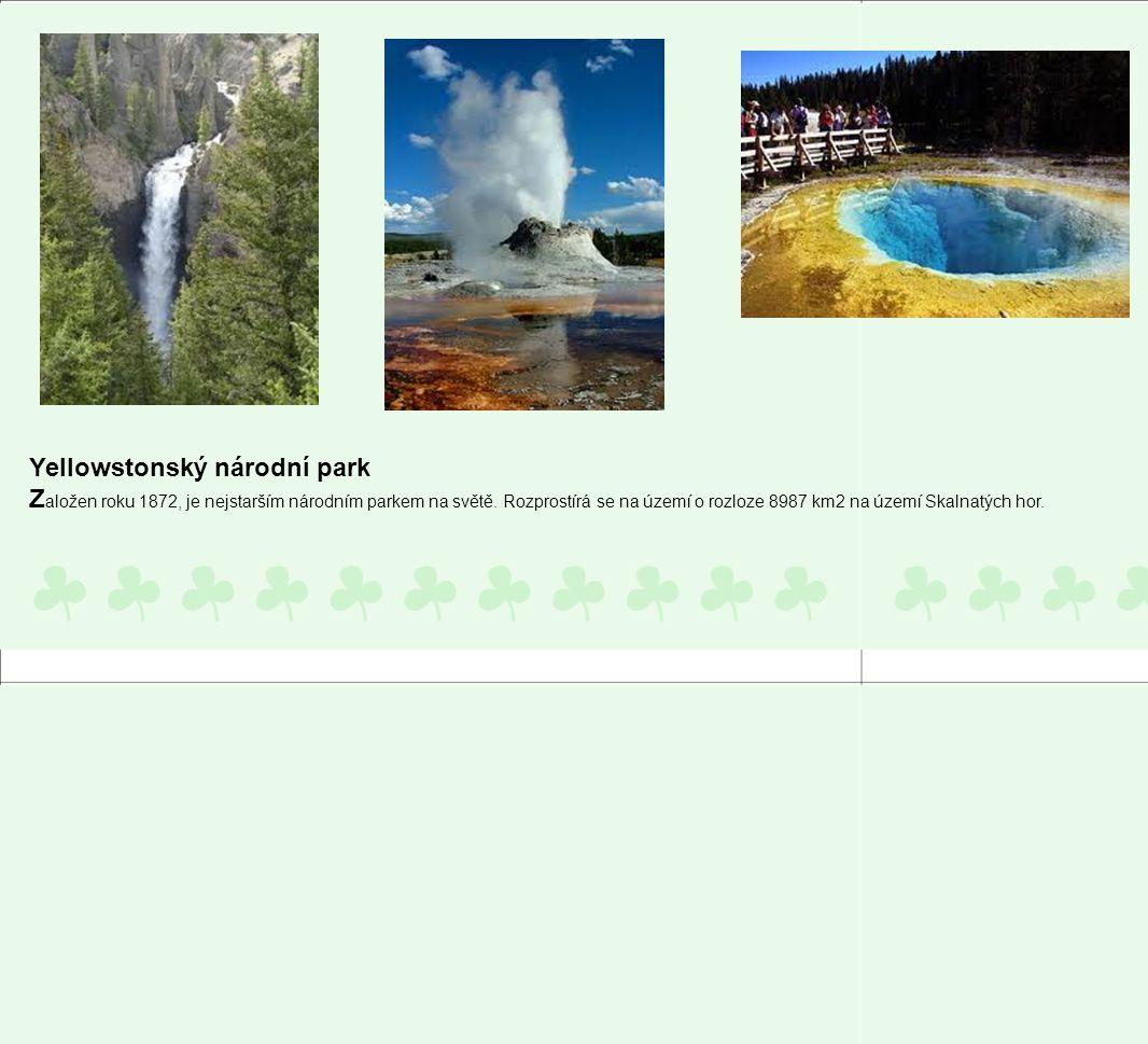Yellowstonský národní park
