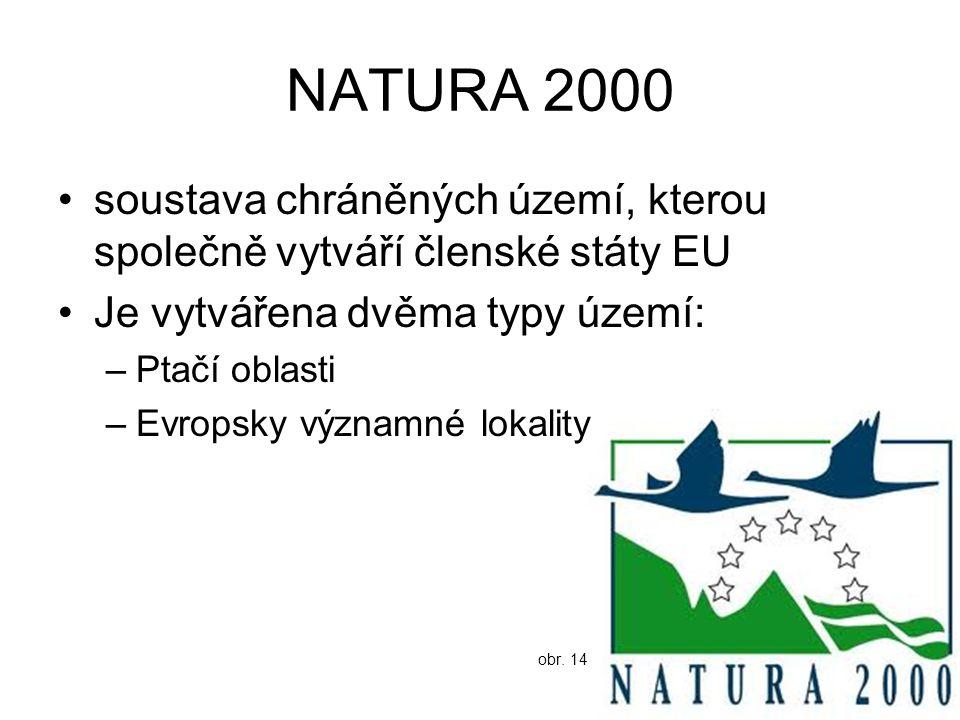 NATURA 2000 soustava chráněných území, kterou společně vytváří členské státy EU. Je vytvářena dvěma typy území: