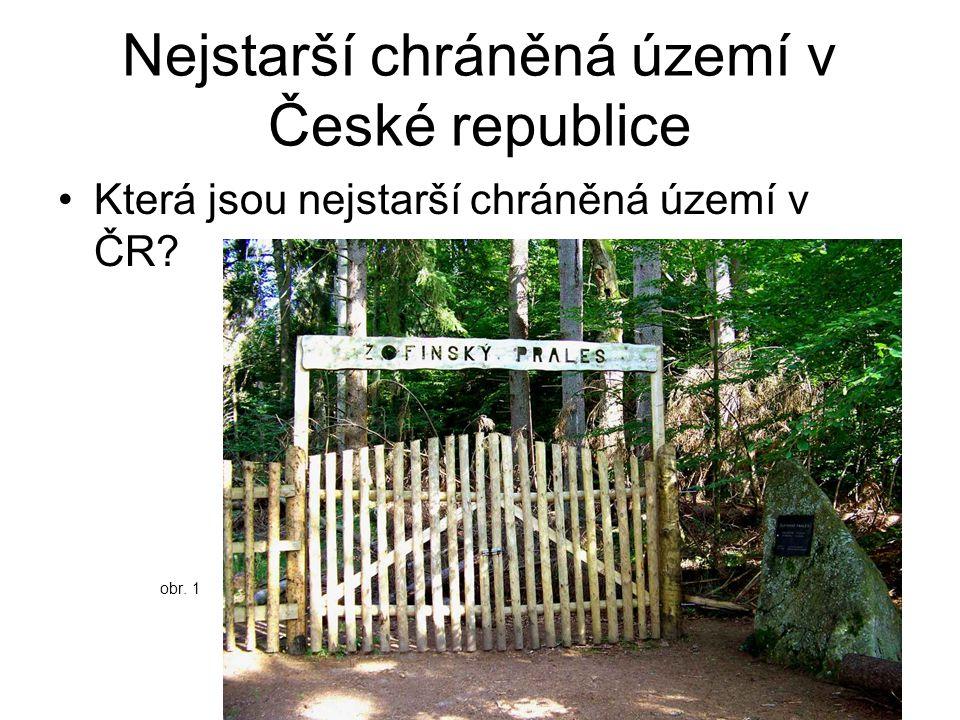 Nejstarší chráněná území v České republice