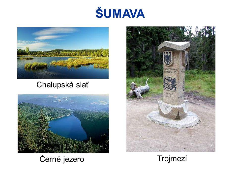 ŠUMAVA Chalupská slať Černé jezero Trojmezí