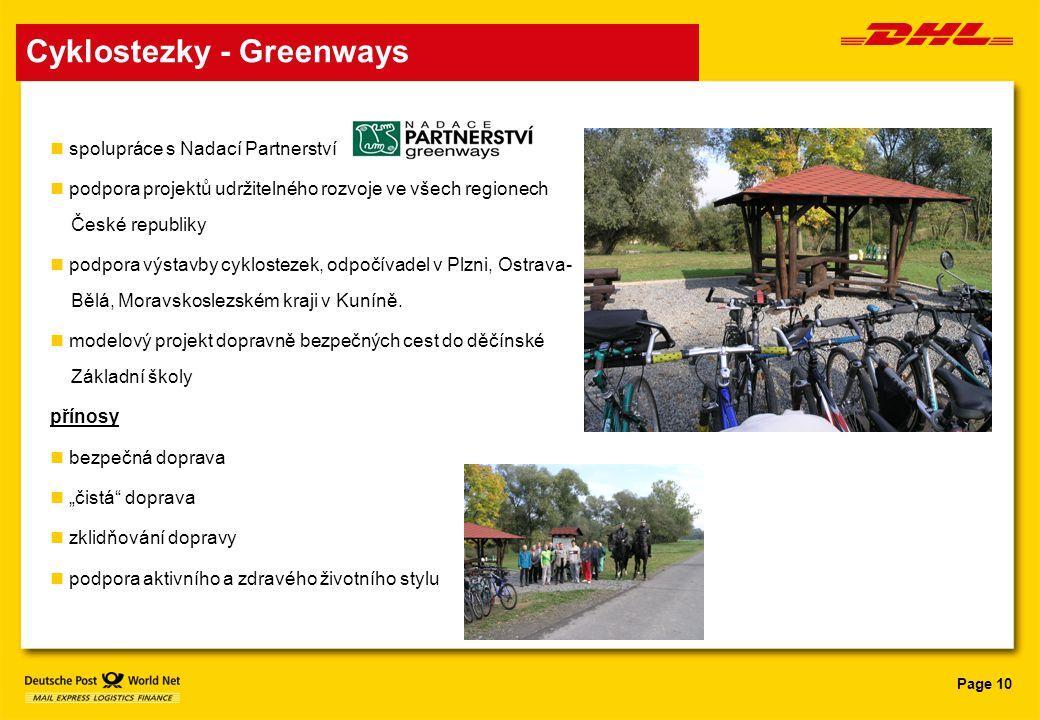 Cyklostezky - Greenways