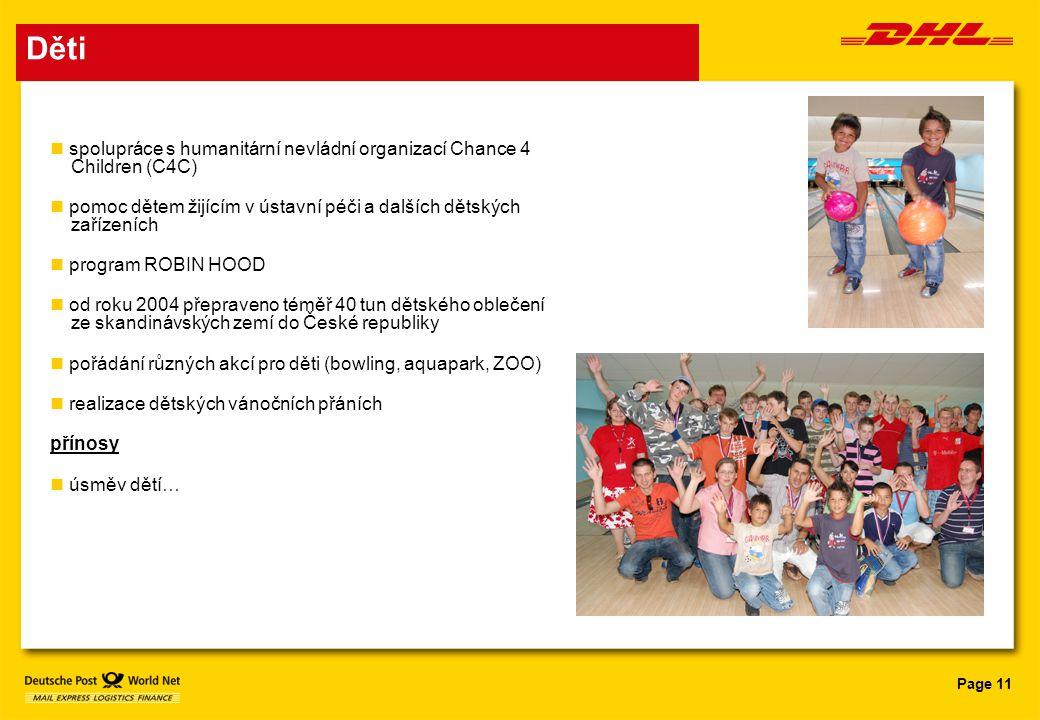 Děti spolupráce s humanitární nevládní organizací Chance 4 Children (C4C) pomoc dětem žijícím v ústavní péči a dalších dětských zařízeních.