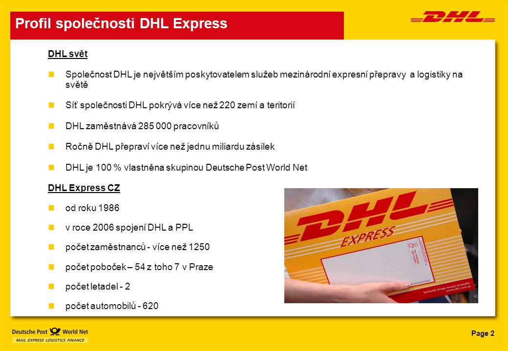 Profil společnosti DHL Express