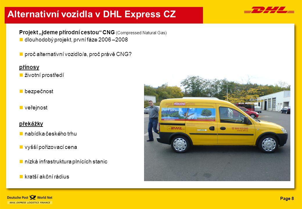 Alternativní vozidla v DHL Express CZ