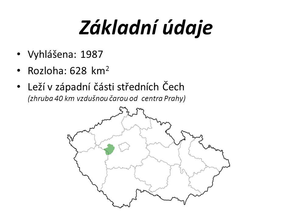 Základní údaje Vyhlášena: 1987 Rozloha: 628 km2