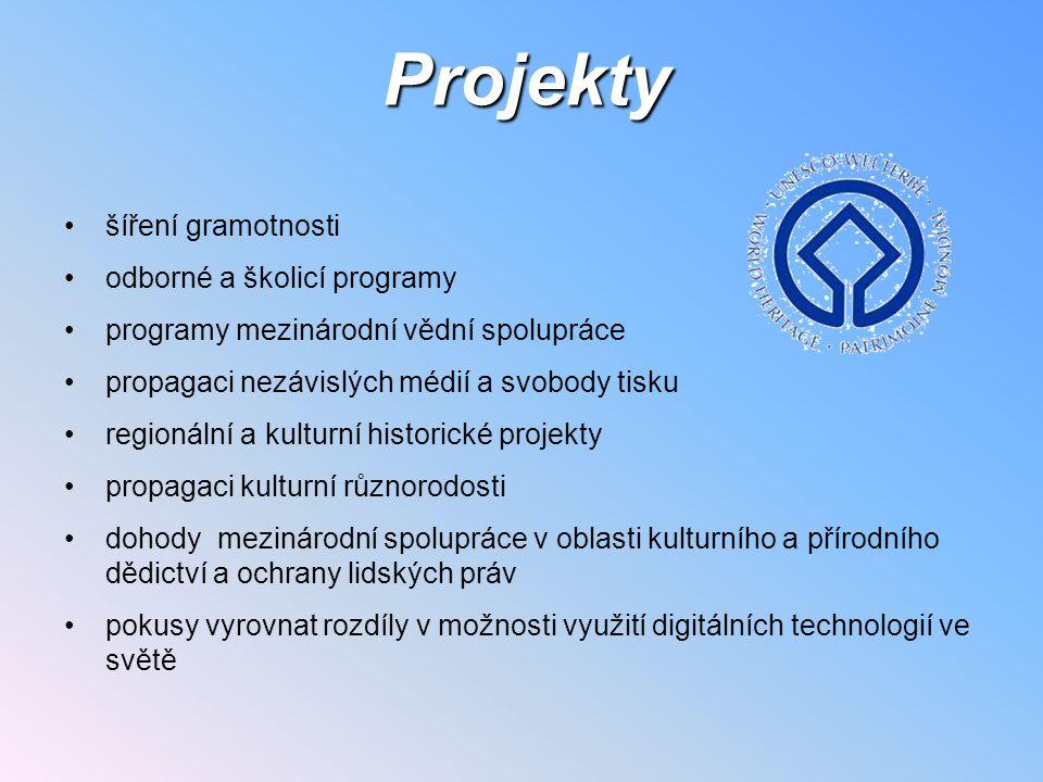 Projekty šíření gramotnosti odborné a školicí programy