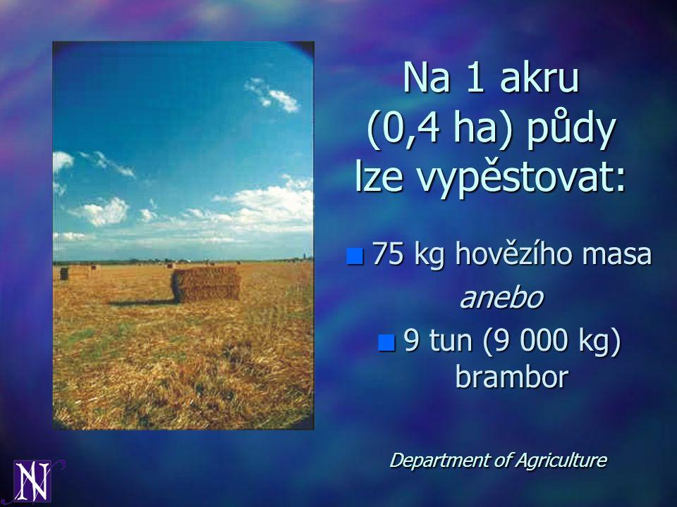 Na 1 akru (0,4 ha) půdy lze vypěstovat: