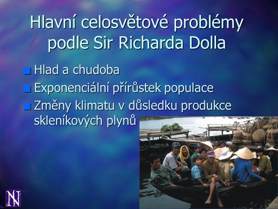Hlavní celosvětové problémy podle Sir Richarda Dolla