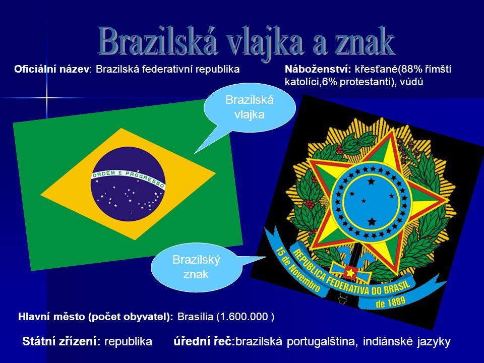 Brazilská vlajka a znak