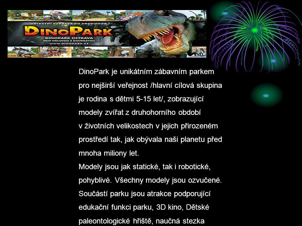 DinoPark je unikátním zábavním parkem