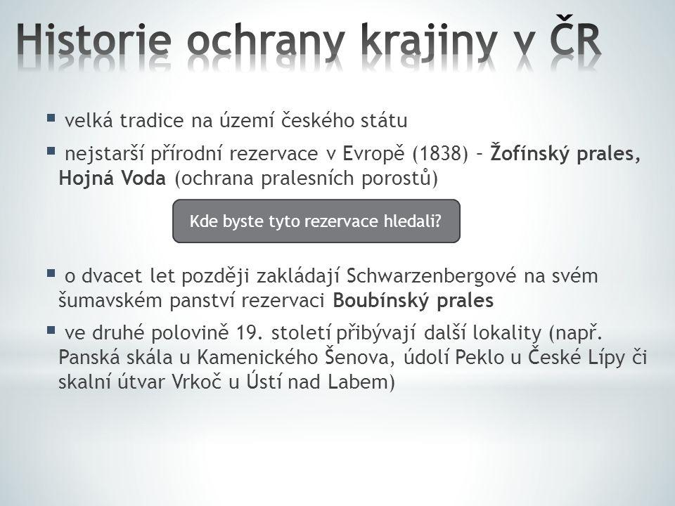 Historie ochrany krajiny v ČR