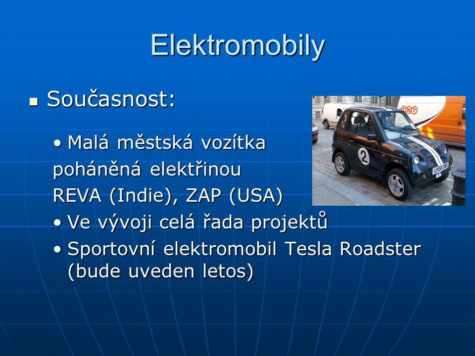 Elektromobily Současnost: Malá městská vozítka poháněná elektřinou