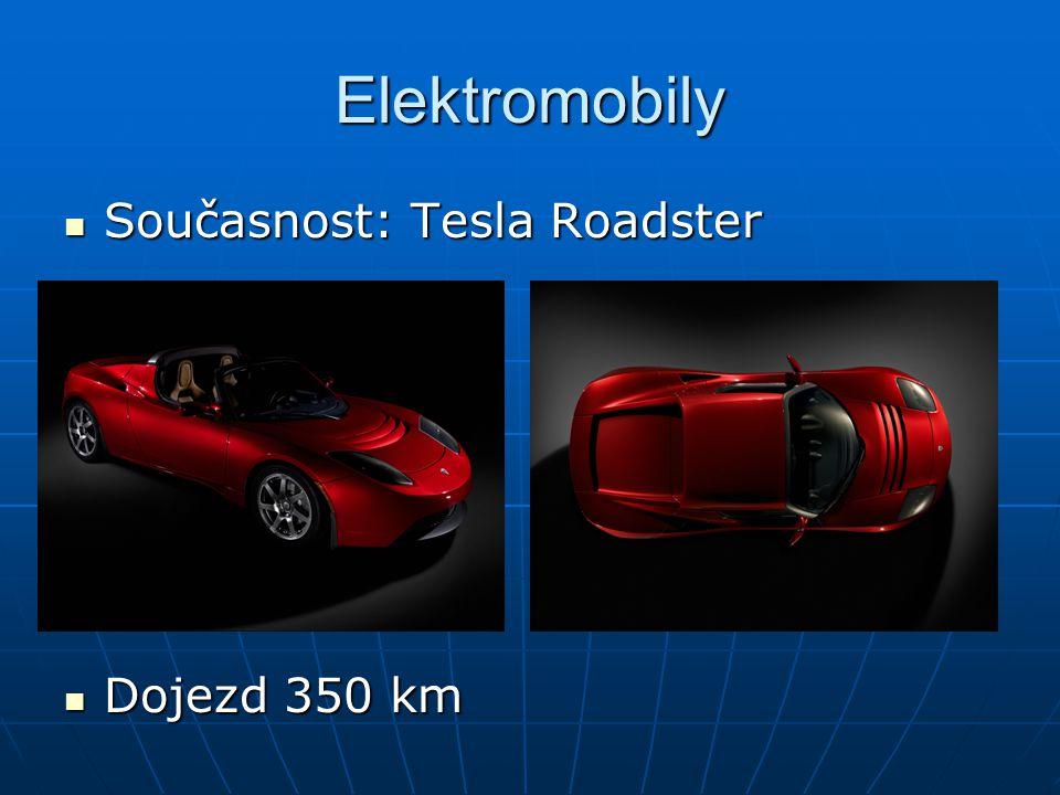 Elektromobily Současnost: Tesla Roadster Dojezd 350 km