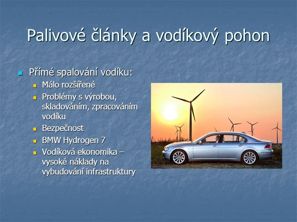 Palivové články a vodíkový pohon