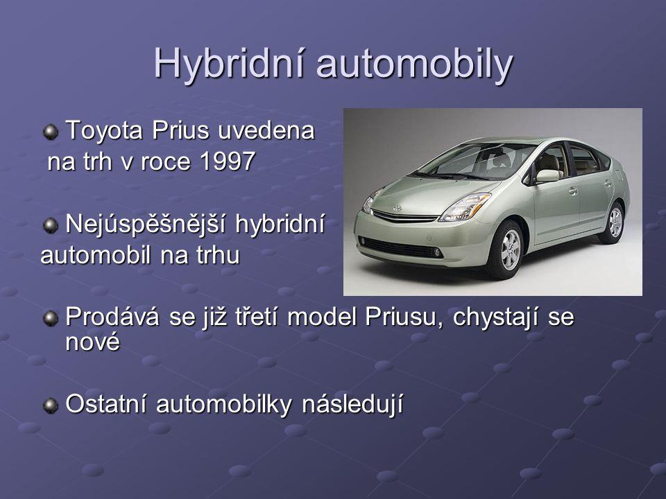 Hybridní automobily Toyota Prius uvedena na trh v roce 1997