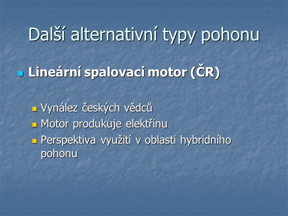 Další alternativní typy pohonu