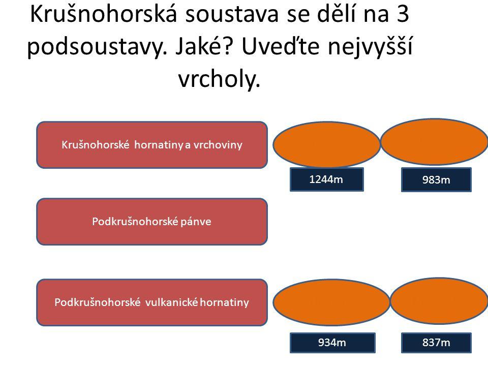 Krušnohorská soustava se dělí na 3 podsoustavy. Jaké