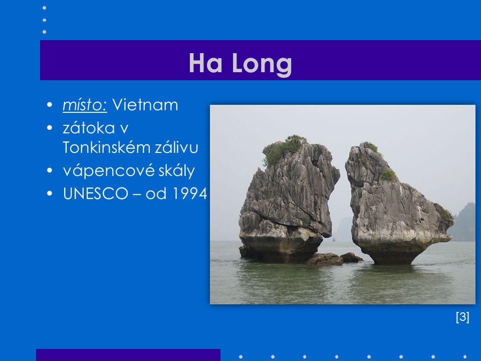 Ha Long místo: Vietnam zátoka v Tonkinském zálivu vápencové skály