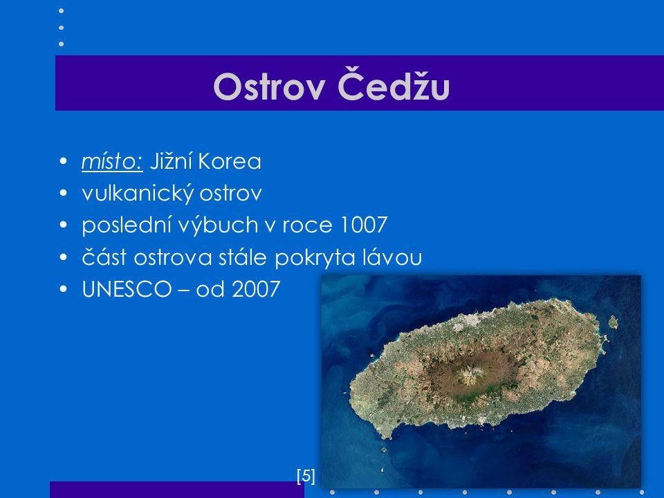 Ostrov Čedžu místo: Jižní Korea vulkanický ostrov