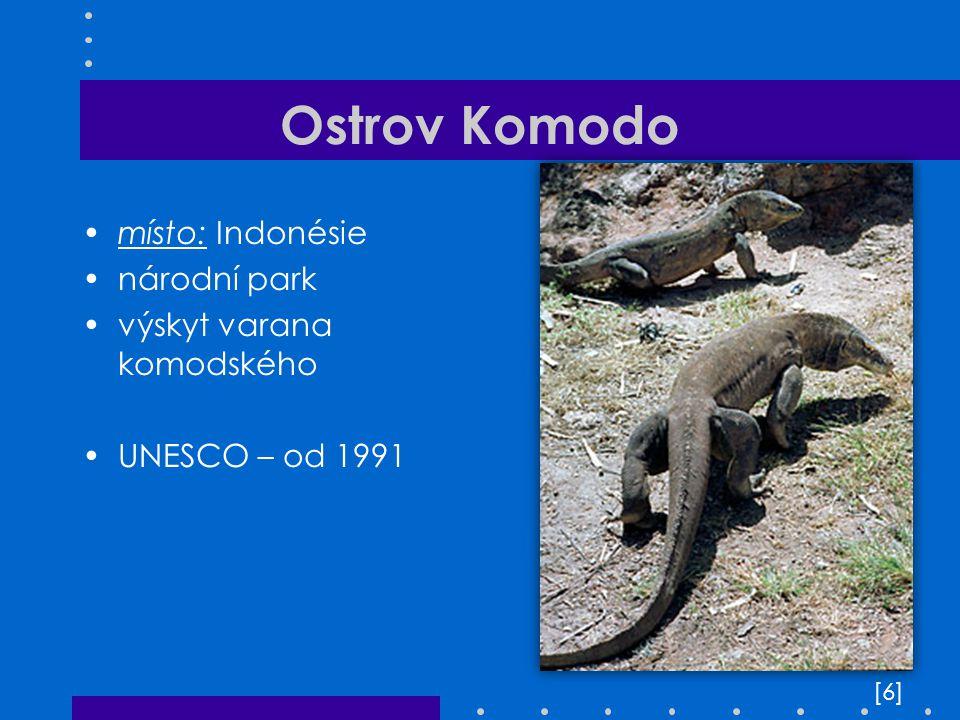 Ostrov Komodo místo: Indonésie národní park výskyt varana komodského
