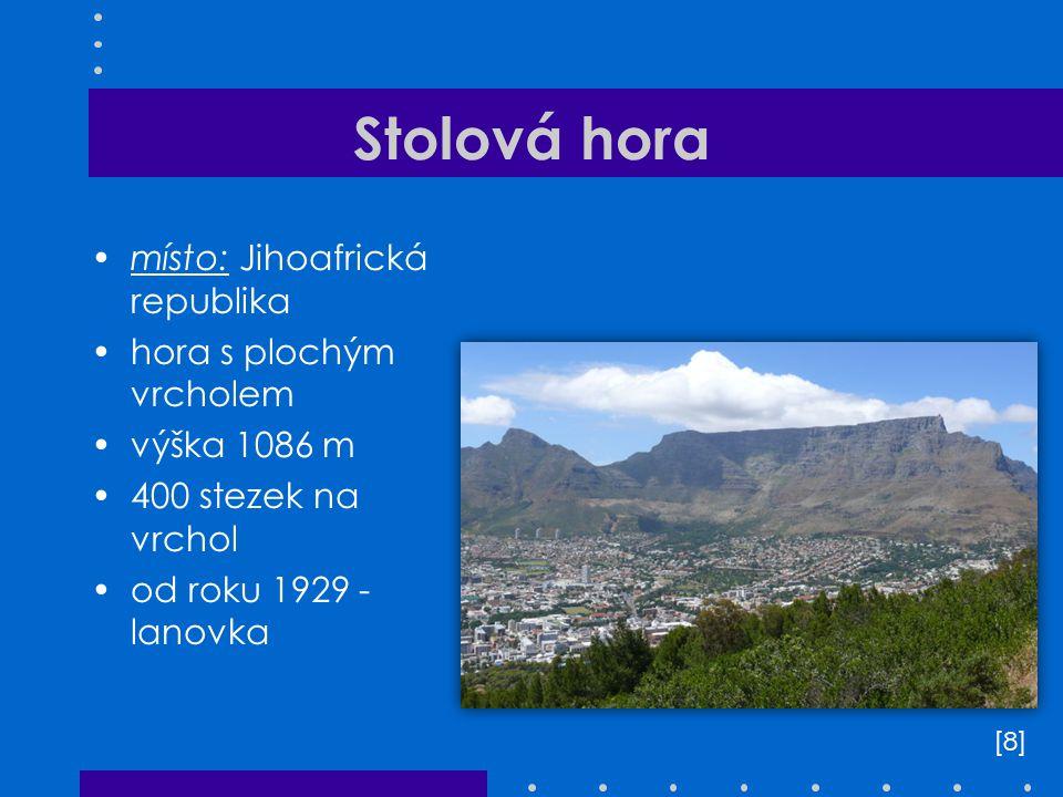 Stolová hora místo: Jihoafrická republika hora s plochým vrcholem