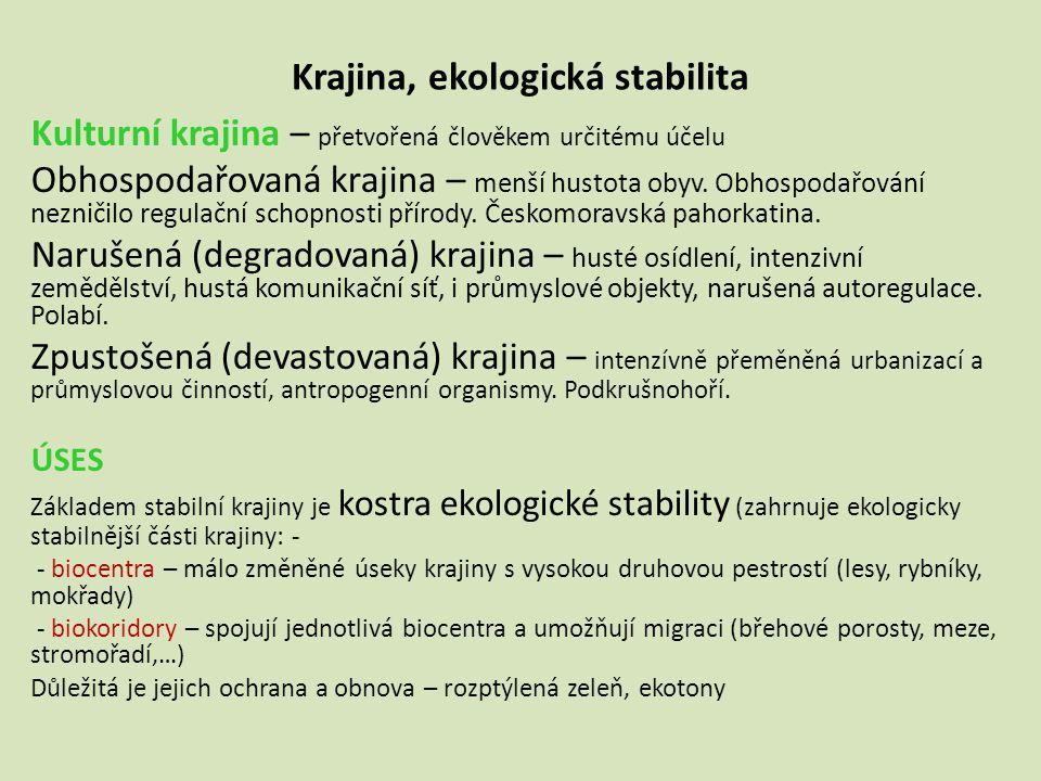 Krajina, ekologická stabilita