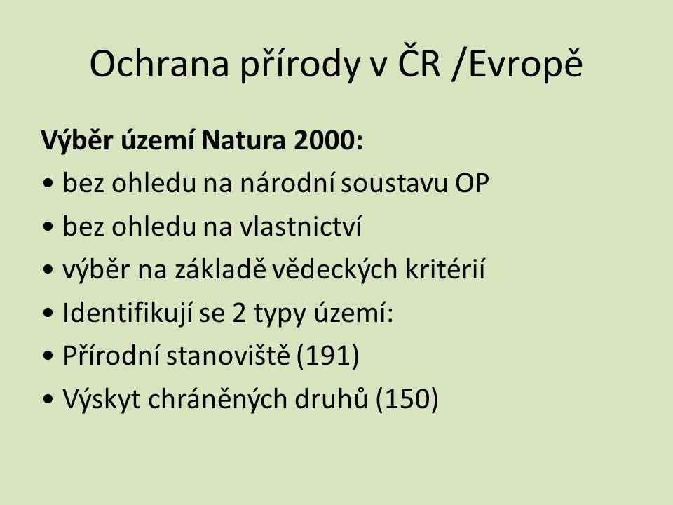 Ochrana přírody v ČR /Evropě