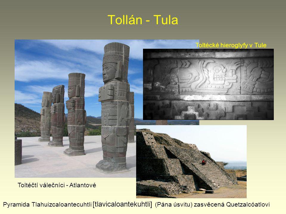 Tollán - Tula Toltécké hieroglyfy v Tule
