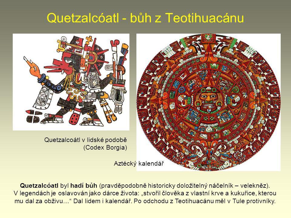 Quetzalcóatl - bůh z Teotihuacánu