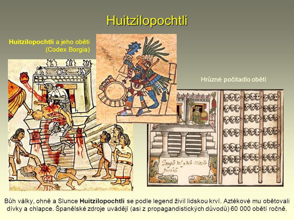 Huitzilopochtli Huitzilopochtli a jeho oběti (Codex Borgia)