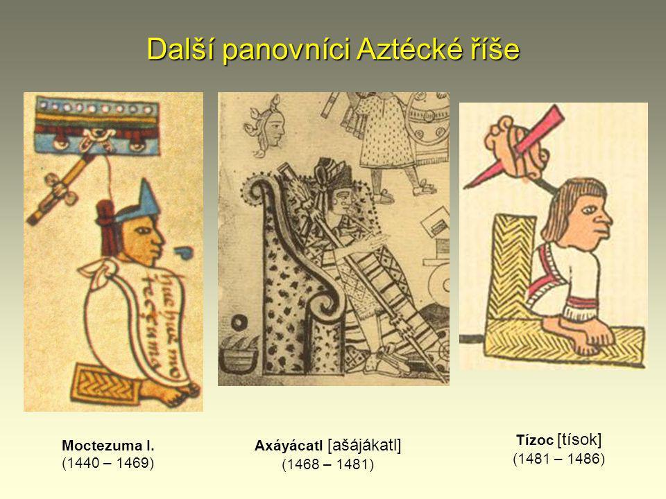 Další panovníci Aztécké říše