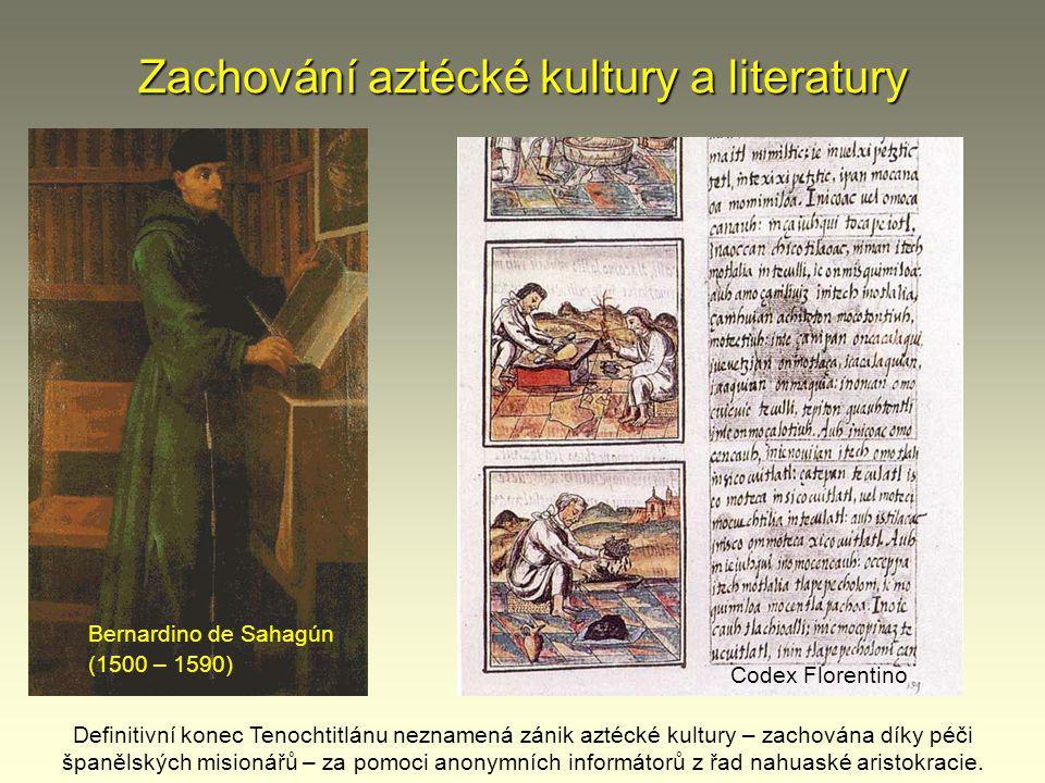 Zachování aztécké kultury a literatury