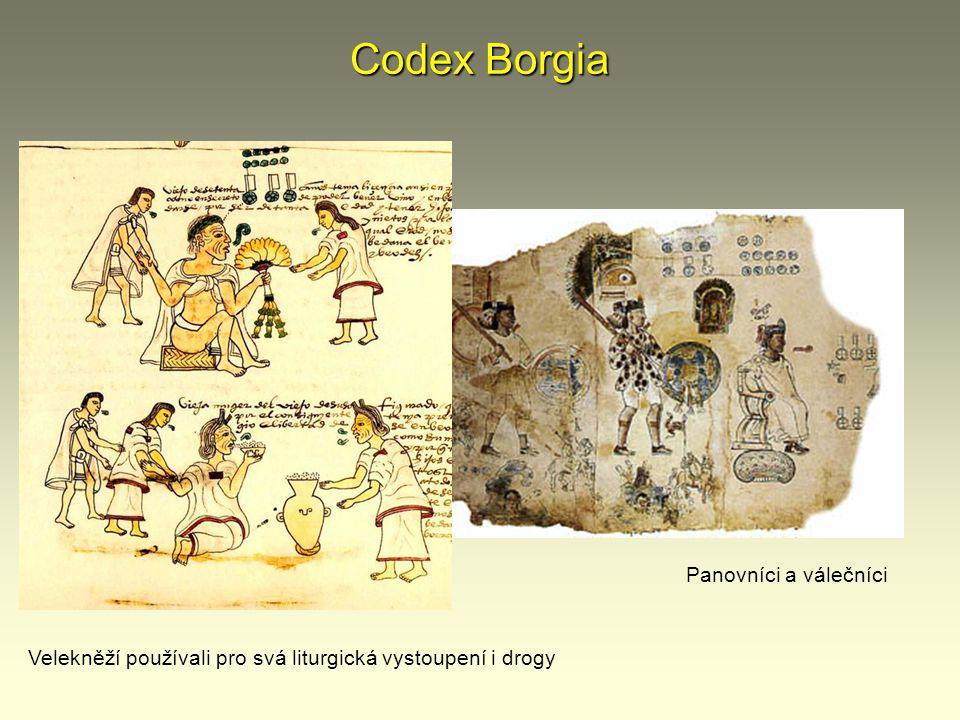 Codex Borgia Panovníci a válečníci