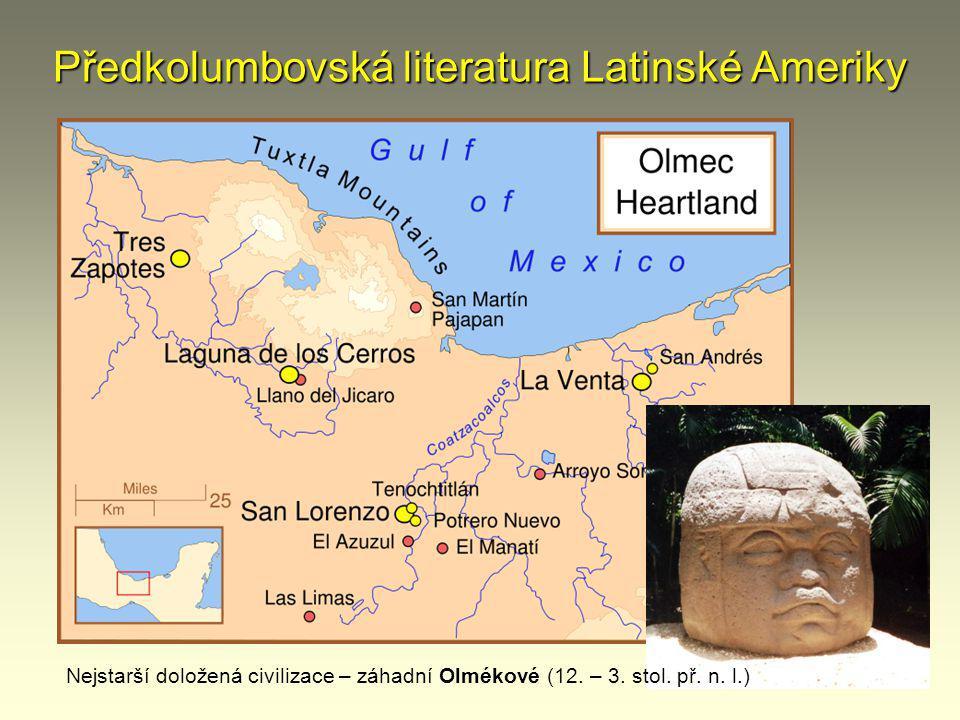 Předkolumbovská literatura Latinské Ameriky