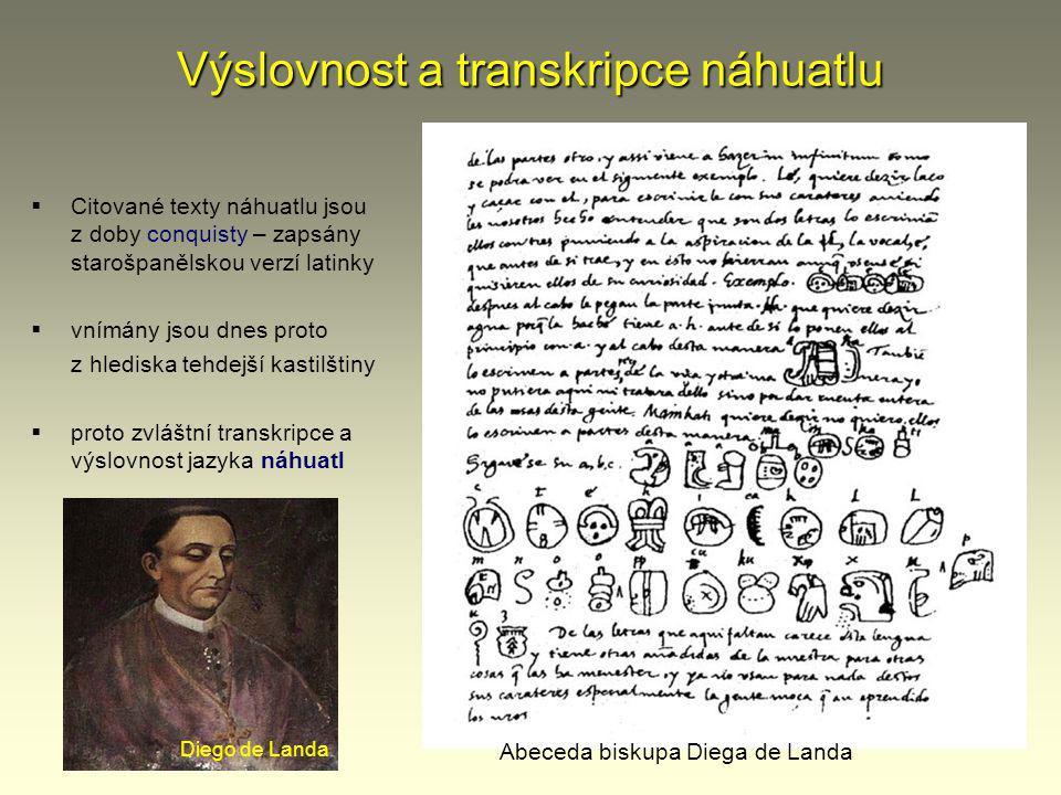 Výslovnost a transkripce náhuatlu