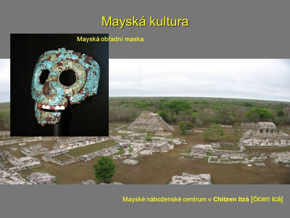 Mayská kultura Mayská obřadní maska