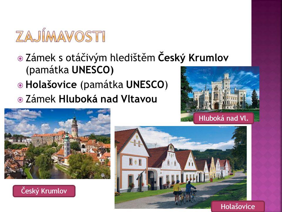 Zajímavosti Zámek s otáčivým hledištěm Český Krumlov (památka UNESCO)