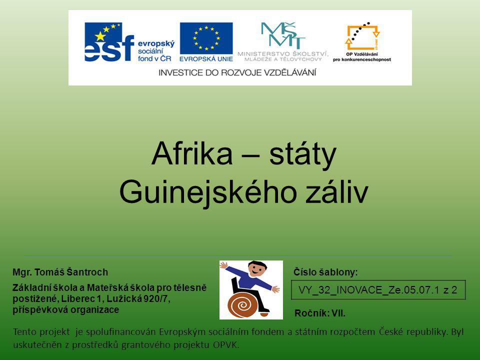 Afrika – státy Guinejského záliv