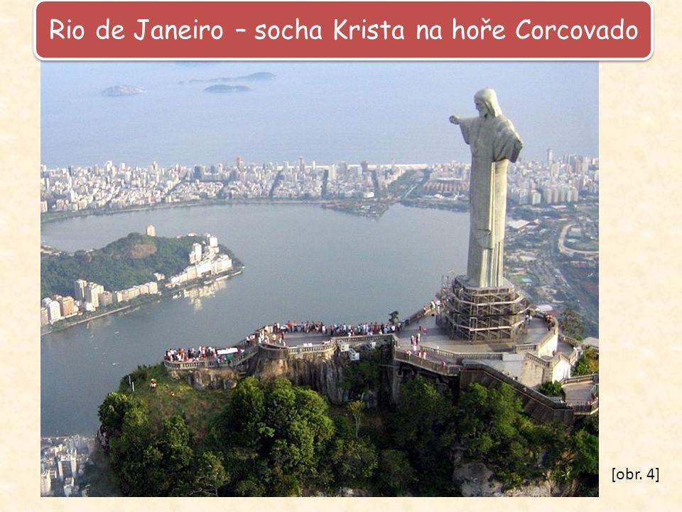 Rio de Janeiro – socha Krista na hoře Corcovado