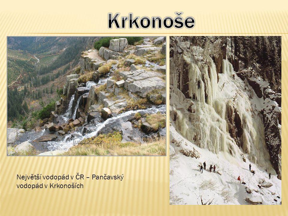 Krkonoše Největší vodopád v ČR – Pančavský vodopád v Krkonoších